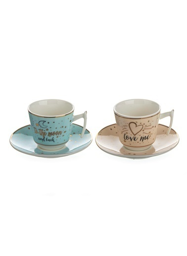 Aryıldız Porselen 2Li Kahve Fincan Seti Juvenile Renkli
